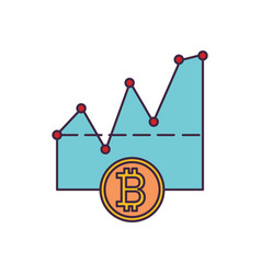 crypto trade icon cartoon style vector image