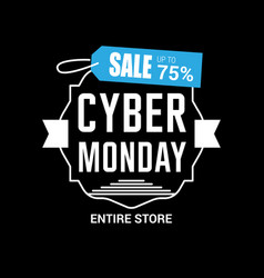 Cyber monday sale card with elegent design vector