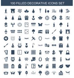 Decorative icons vector