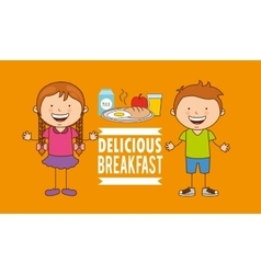 Delicious breakfast vector