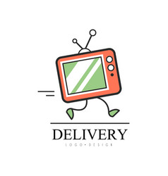 Delivery logo design creative template with vector