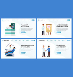 dental clinic landing website page set vector image