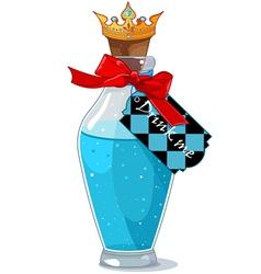 Drink me bottle vector image