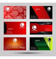 Elegant business card templates vector