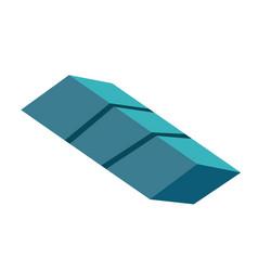 element of tetris game cartoon vector image