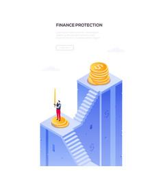 finance protection - modern isometric web vector image