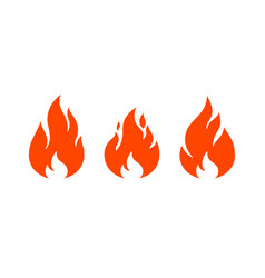 fire flame red flame collection set vector image