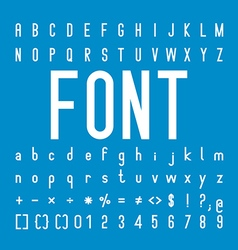 Font family and Alphabet Font Design vector image