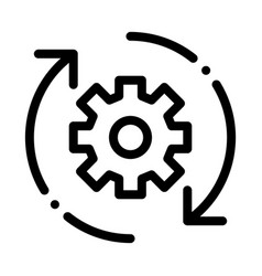 Gear and arrows around agile element icon vector