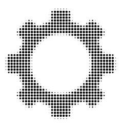 gear halftone icon vector image
