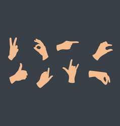 gesturing hands hand with counting gestures vector image