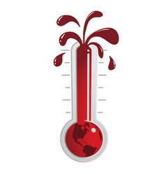 global warming thermometer vector image