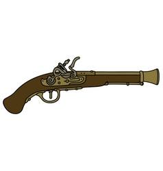 Historical matchlock pistol vector