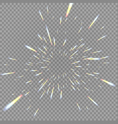 Holographic transparent reflections flare isolated vector