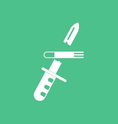 Icon bullet broke knife vector