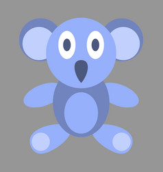 Icon in flat design koala toy vector