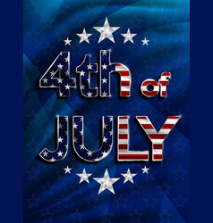 Independence day 4 th july happy day vector