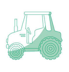 Isolted cute shield tractor vector