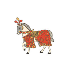 Knight horse chivalry and crusade concept vector