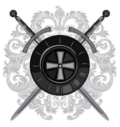 Knight swords two crossed of the sword vector