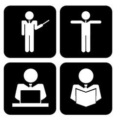 learning icons vector image