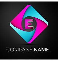 Letter E logo symbol in the colorful rhombus vector