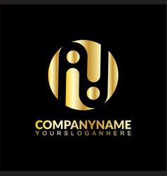letter i business logo vector image