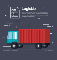 logistic service business icons vector image