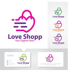 love shop logo designs vector image