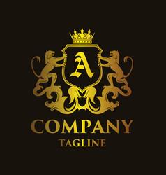Luxury letter a logo vector