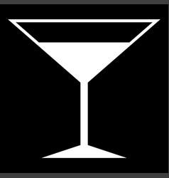 martini glass the white color icon vector image vector image