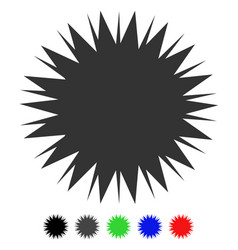 Microbe spore flat icon vector