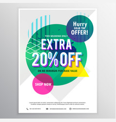 modern promotional flyer template with discount vector image