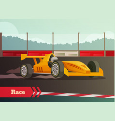 Motor race flat composition vector