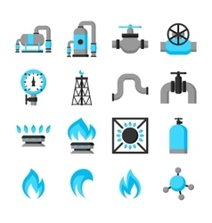 Natural gas production injection and storage set vector