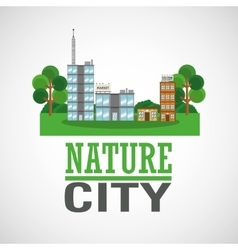 Nature city design vector image
