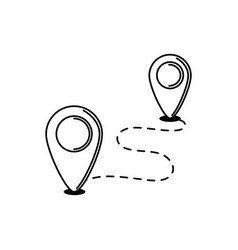 navigation pointer track vacation travel icon vector image
