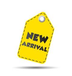 new arrival yellow hang tag vector image