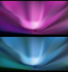 Northern blue aurora backgrounds vector
