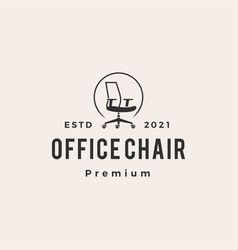 office chair hipster vintage logo icon vector image