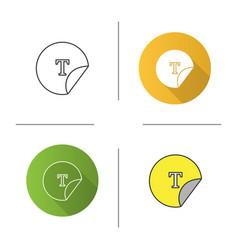 Round sticker icon vector