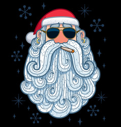 Santa portrait 3 - cool vector