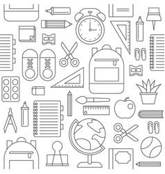 School supplies seamless pattern back to school vector
