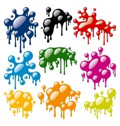 Set of color blots vector