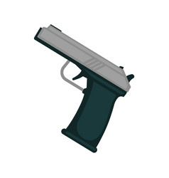 simple metal handgun vector image