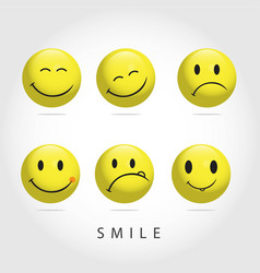 Smile emoticon template design vector