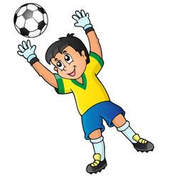 Soccer theme image 2 vector