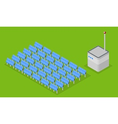 solar energy station vector image