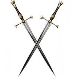 Two crossbones sword vector