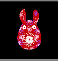 Unusual bunny for the easter design and cards vector